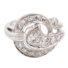 Round Diamond Cocktail Ring