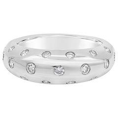 Round Diamond Domed Etoile Ring