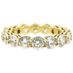Round Diamond Eternity Wedding Band in Yellow Gold