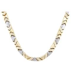 Round Diamond Five Station Necklace