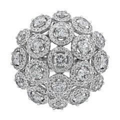 Roman Malakov Round Diamond Halo Cluster Ring