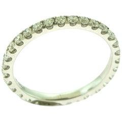 Round Diamond in 18 Karat White Gold Full Eternity Band Ring