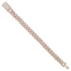 Round Diamond Pave Cuban Link Bracelet