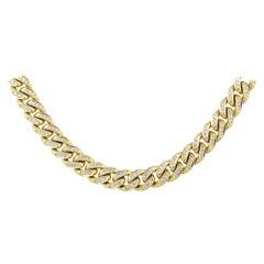 Round Diamond Pave Cuban Link Necklace