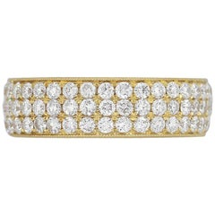 Round Diamond Pavé Eternity Band