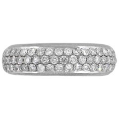 Round Diamond Pave Eternity Band