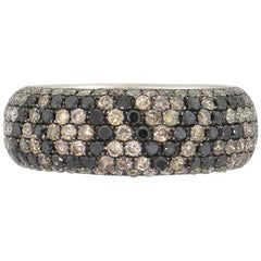 "Round Diamond Pave ""Love"" Ring Band"