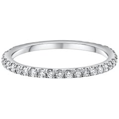 Roman Malakov, Round Diamond Platinum Eternity Wedding Band
