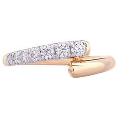 Round Diamond Ring 0.33 Carat in 18 Karat Yellow Gold IGI Certified