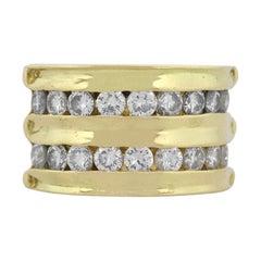 Round Diamond Wide Band