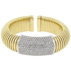 Round Diamond Wide Bangle