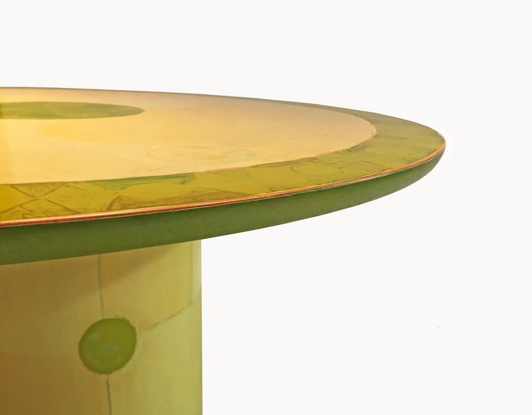 Round Dining or Center Table by Randy Shull, USA, 1999 In Good Condition In Jersey City, NJ
