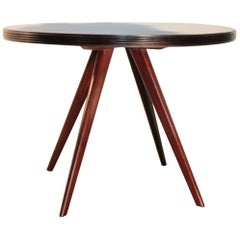 Round Dining Table 1950s Ico Parisi Rosewood