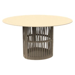 Round Dining Table Beige