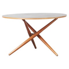 Round Dining Table by Jurg Bally Mod. Ess-Tee Table for Wohnhilfe, Switzerland