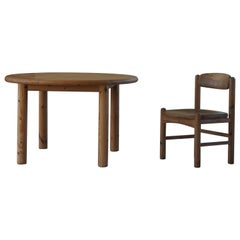Round Dining Table in Solid Pine, by Rainer Daumiller for Hirtshals Savvaerk