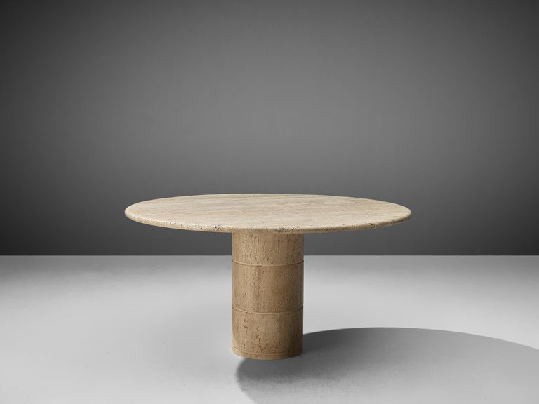 Dining table, travertine, Europe, 1970s.