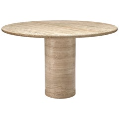 Round Dining Table in Travertine