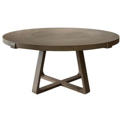 Round Dining Table With Lazy Susan 200cm Interlock André Fu Living Grey Oak New