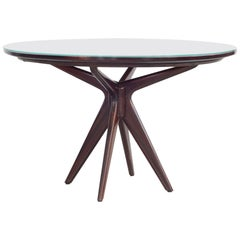 Round Dinning Table, Attributed to Osvaldo Borsani, 1950s