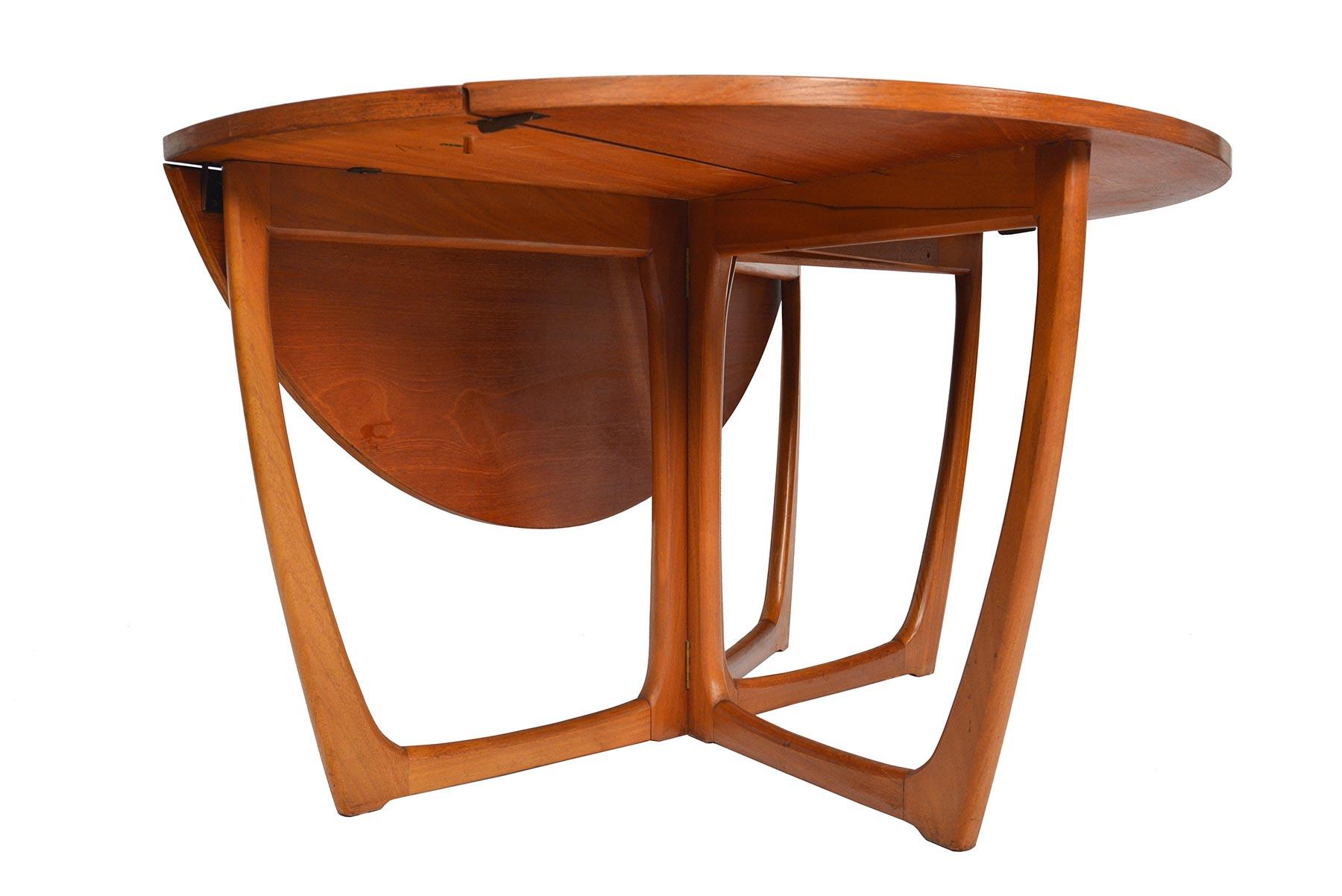 Round Drop Leaf Dining Table By Beithcraft For Sale At 1stdibs