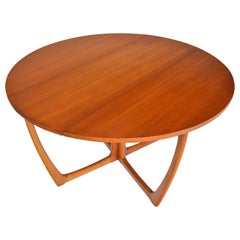 Round Drop-Leaf Dining Table by Beithcraft