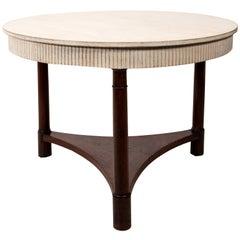 Round Empire Style Mahogany Accent Table