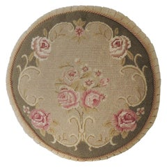 Round Floral Tapestry Decorative Pillow