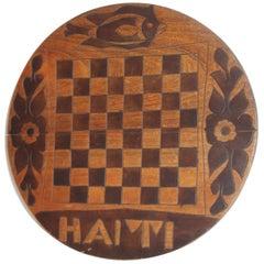 Round Folk Art Game Board From Haiti