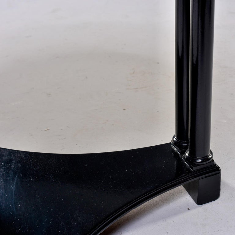Round French Art Deco Ebonised Side Table For Sale 4