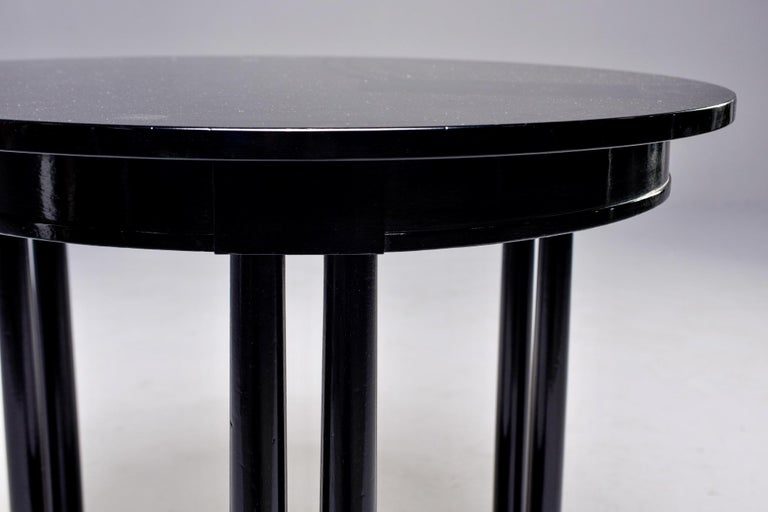 Round French Art Deco Ebonised Side Table For Sale 5