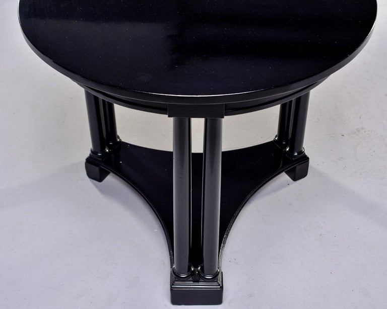 Round French Art Deco Ebonised Side Table For Sale 6