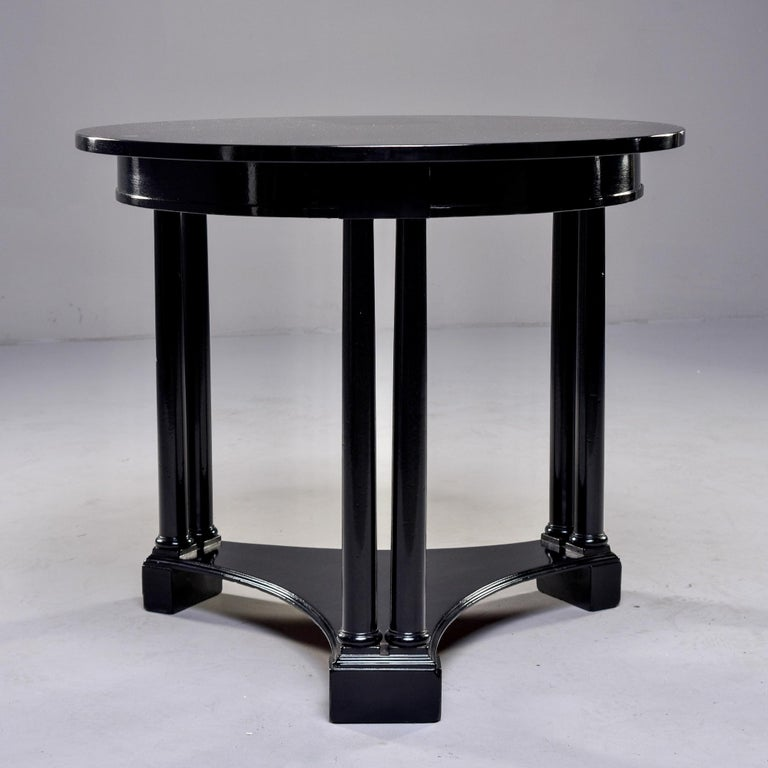 20th Century Round French Art Deco Ebonised Side Table For Sale