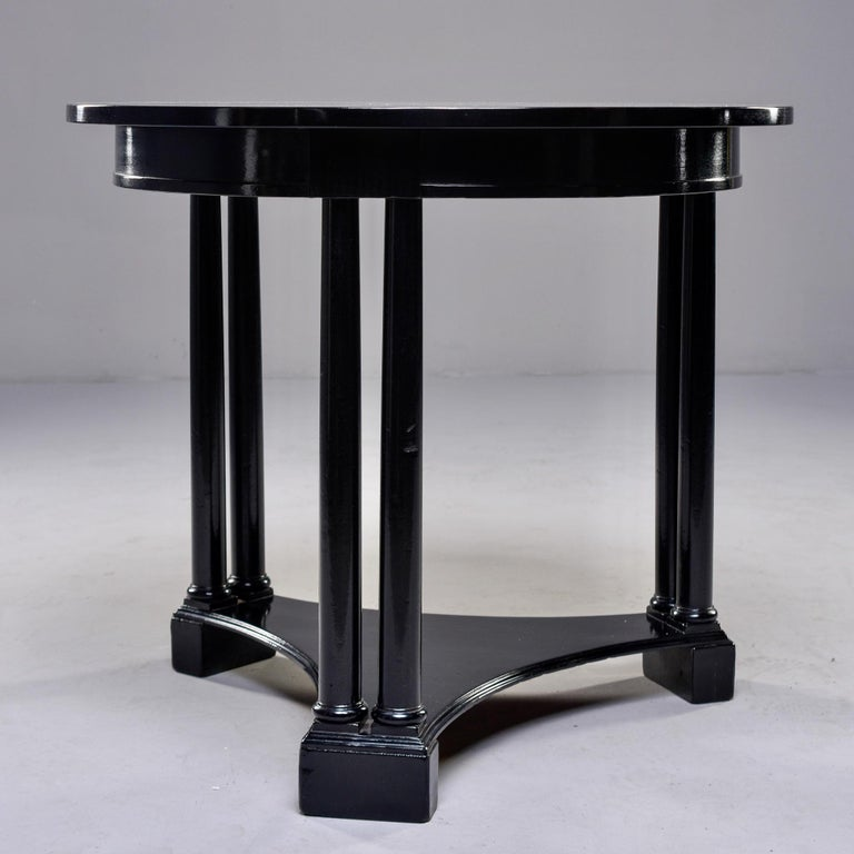 Round French Art Deco Ebonised Side Table For Sale 1