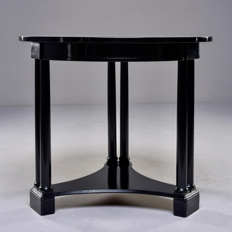 Round French Art Deco Ebonised Side Table For Sale 2