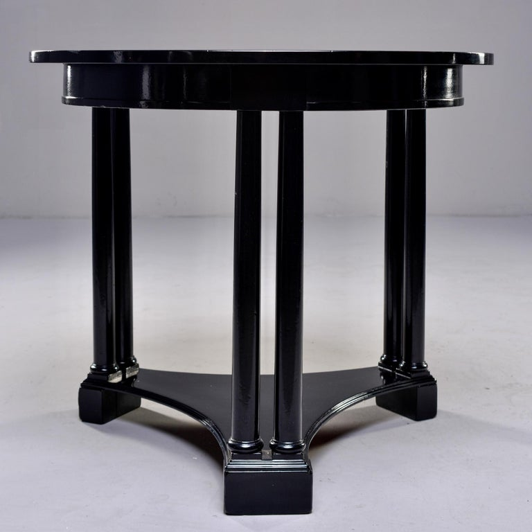 Round French Art Deco Ebonised Side Table For Sale 3