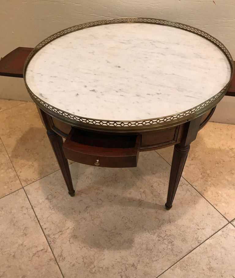 Louis XVI Round French Bouillotte Style Cocktail Table For Sale