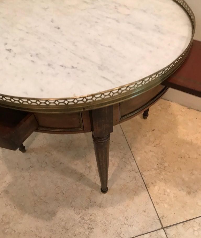 Round French Bouillotte Style Cocktail Table In Good Condition For Sale In West Palm Beach, FL