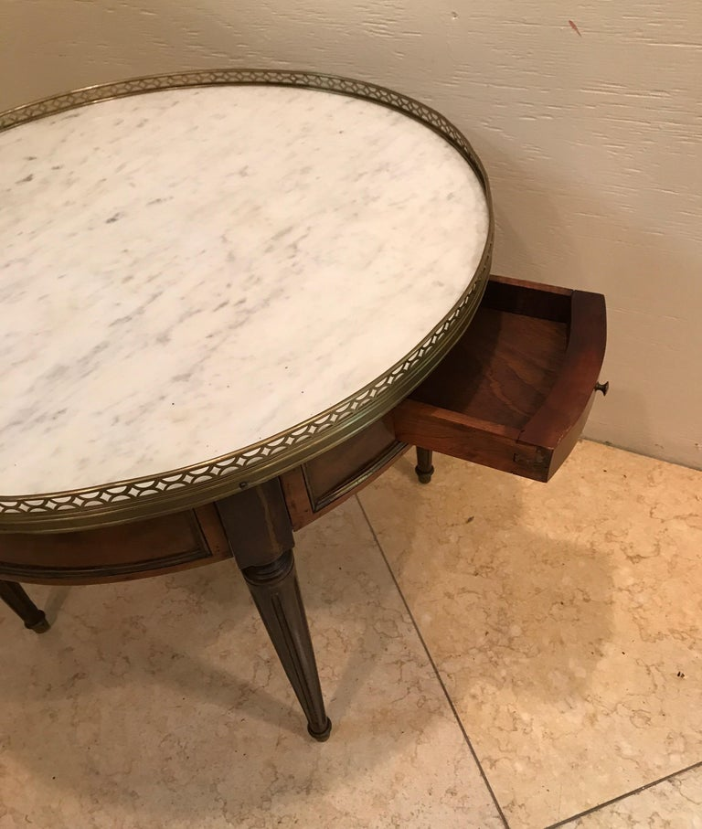 Round French Bouillotte Style Cocktail Table For Sale 1
