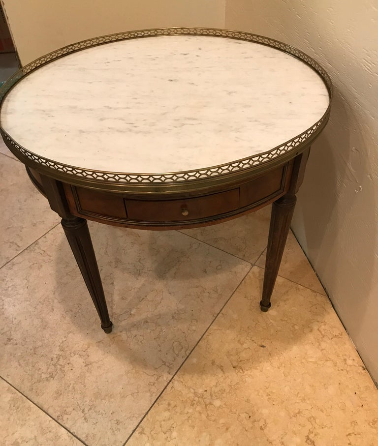 Round French Bouillotte Style Cocktail Table For Sale 2