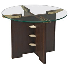 Round French Table with Glass Top