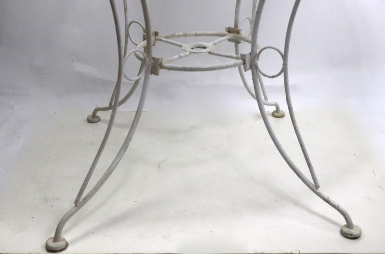 American Round Garden Patio Wrought Iron Dining Table For Sale
