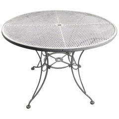 Round Garden Patio Wrought Iron Dining Table