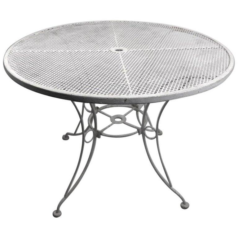 Garden Patio Wrought Iron Dining Table