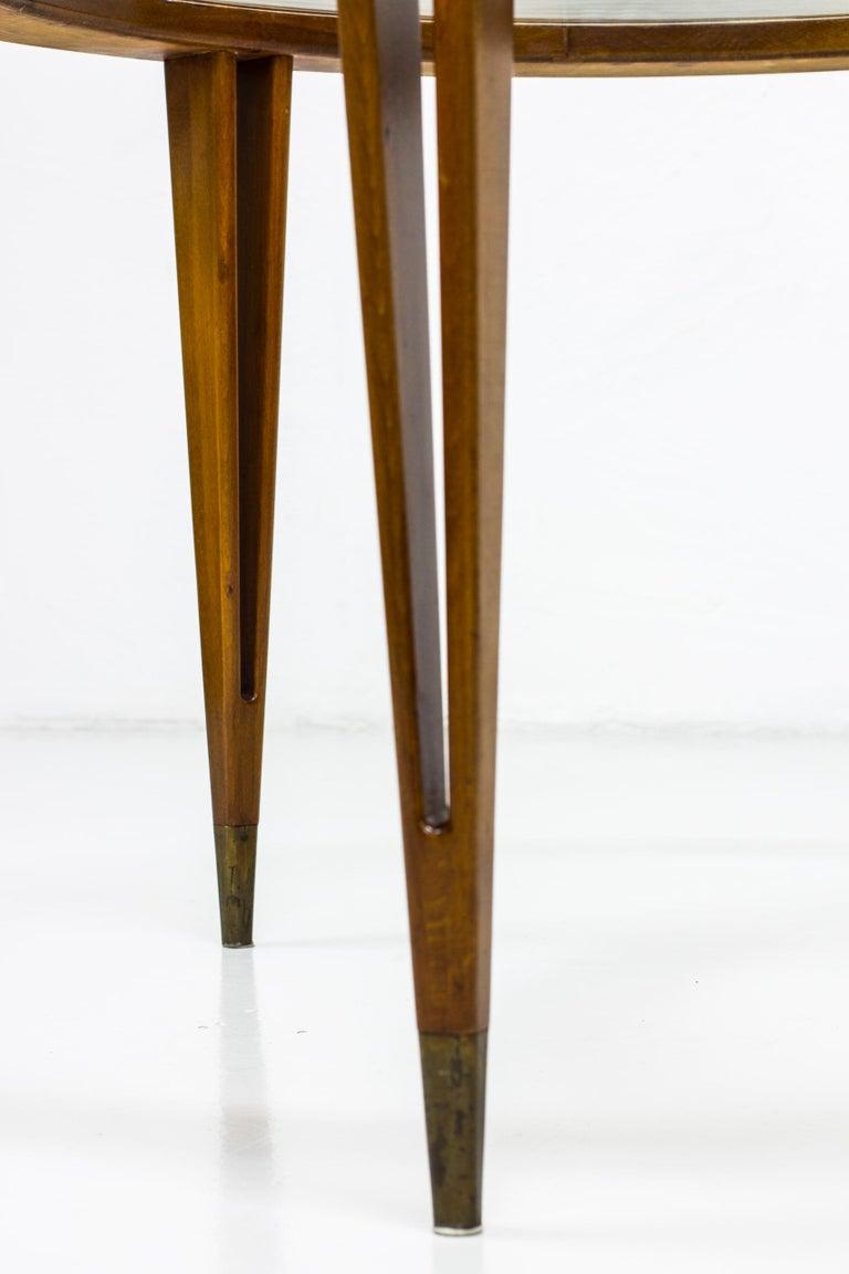 Round Glass Coffee Table by Bertil Fridhagen for Bodafors, Sweden, 1940s For Sale 3