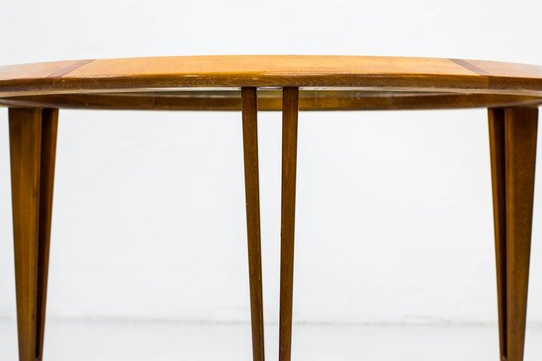 Round Glass Coffee Table by Bertil Fridhagen for Bodafors, Sweden, 1940s For Sale 1
