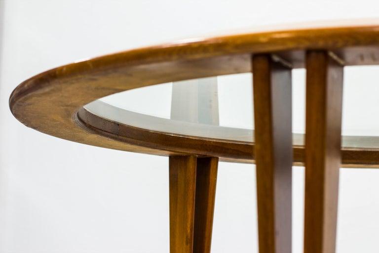 Round Glass Coffee Table by Bertil Fridhagen for Bodafors, Sweden, 1940s For Sale 2