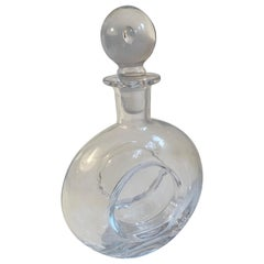 Round Glass Decanter with Crystal Stopper