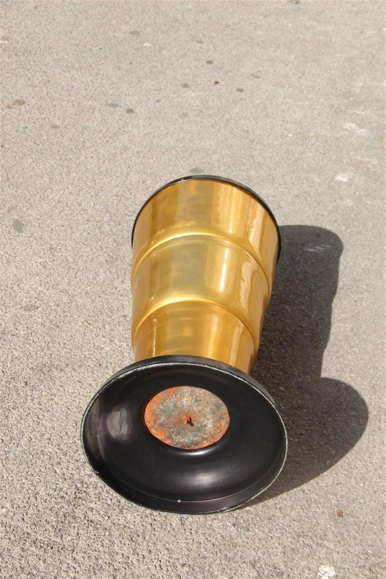 Round Gold Italian Design 1930 Round Umbrella Art Deco Black For Sale 2