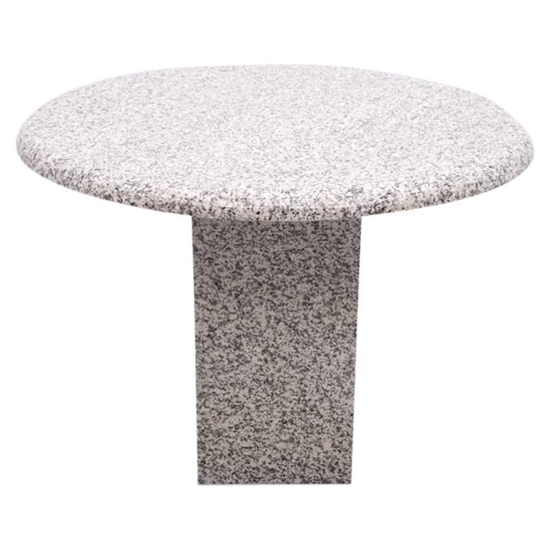 Round Granite Dining Table, 1980s